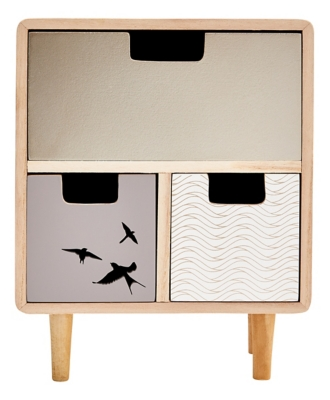 Mini commode 3 tiroirs HOLO Naturel