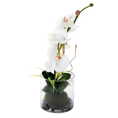 Vase ORCHIDEE COMPO Blanc/Violet