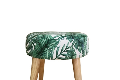 Tabouret scandinave BAGUERRA tissu Jungle