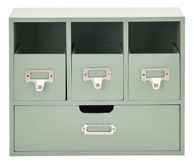 Mini commode 4 tiroirs WILLOW Vert