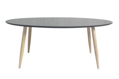 Table basse scandinave ovale MANON Noir