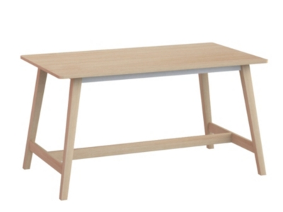 Table H. 75 cm FLODEN PARENTHESE Chêne/blanc