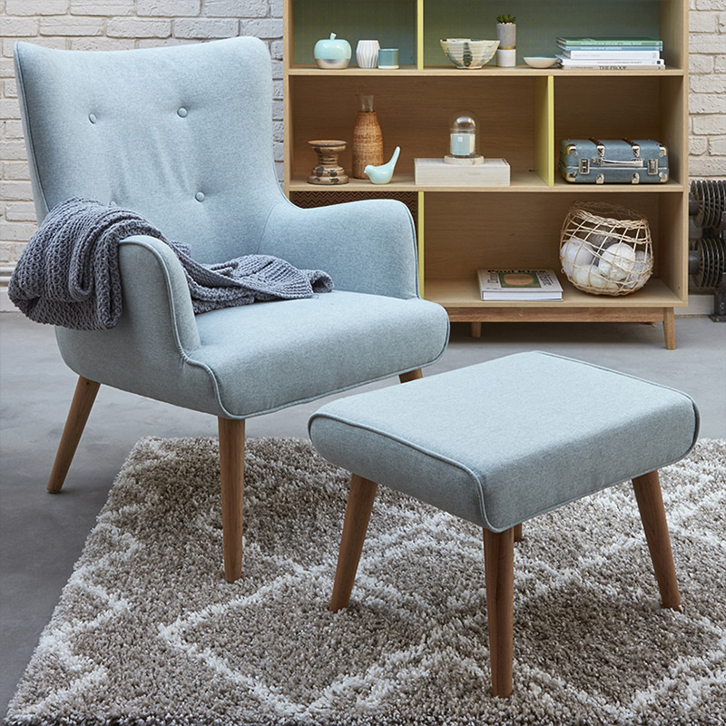 fauteuil repose pied bibliotheque