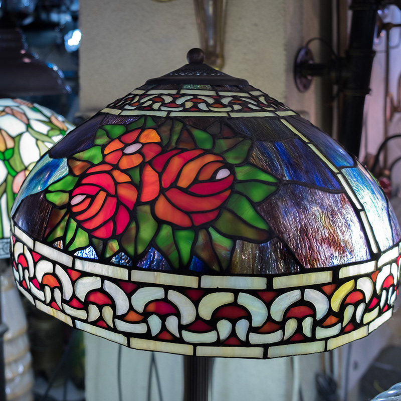 lampe a poser floral tiffany