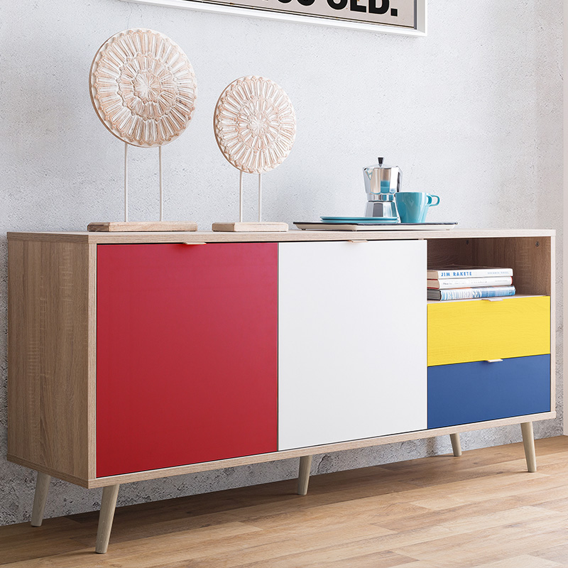 buffet colore inspiration mondrian