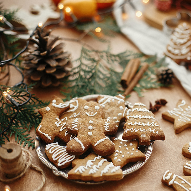 decoration table biscuits noel
