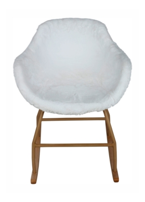 Rocking-Chair cocooning ICEBERG Blanc