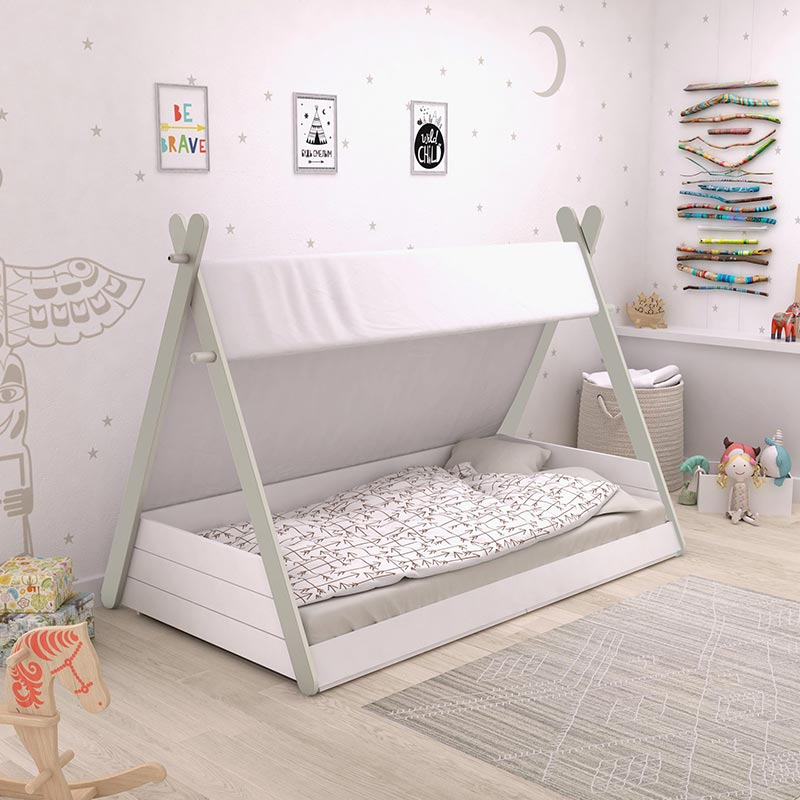 chambre fille tipi
