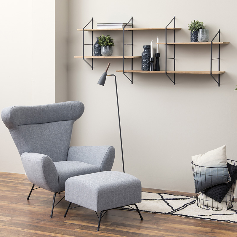 decoration etagere bougies bougeoirs noir