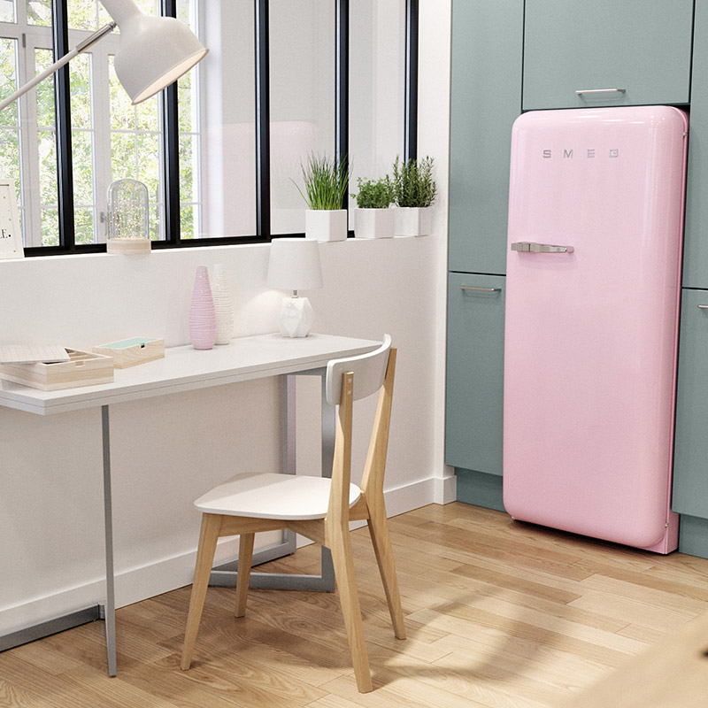 refrigerateur rose smeg