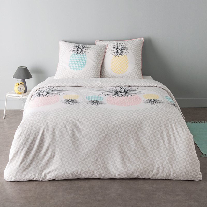 couette imprimee ananas