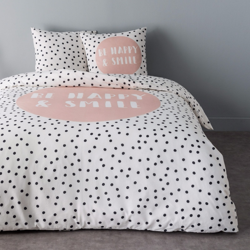 couette pois noirs