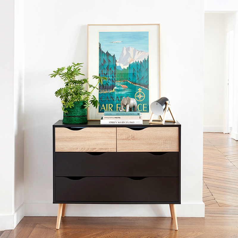 affiche decorative commode scandinave