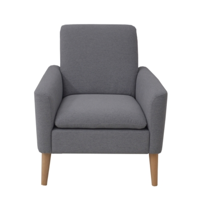 Fauteuil CHILLY tissu gris clair
