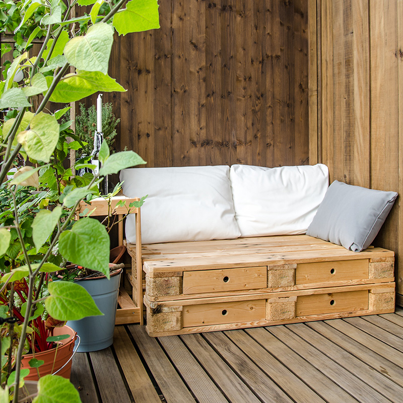 idee recup palette terrasse canape