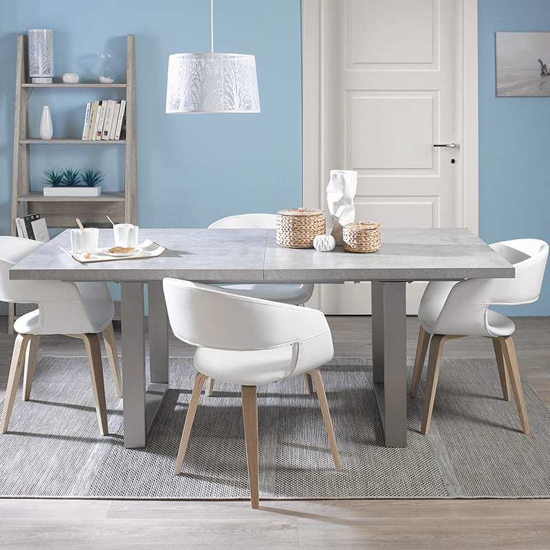 table gris perle salle a manger