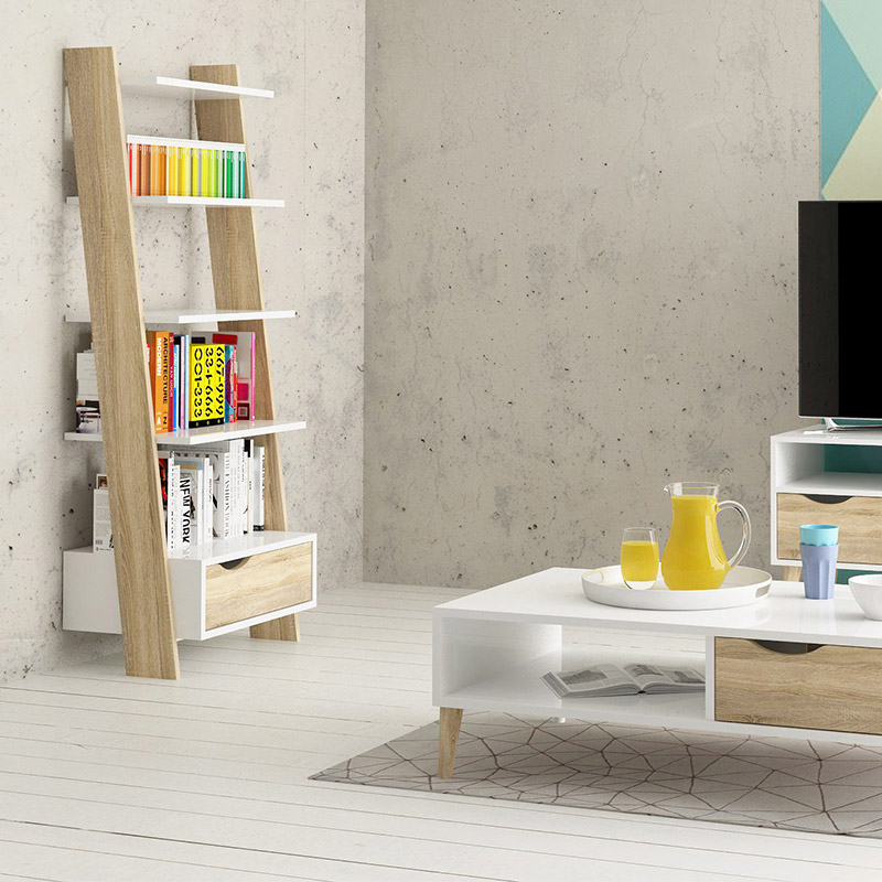 bibliotheque etagere bois blanc