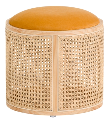 Pouf H.38 cm CANNAGE Naturel