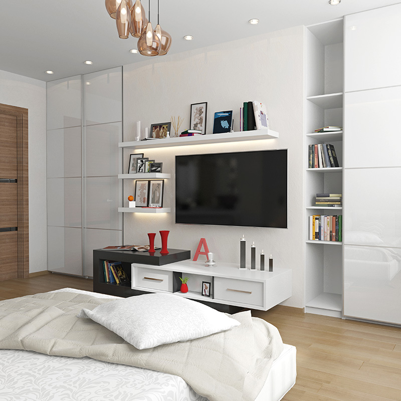 support tv mural chambre