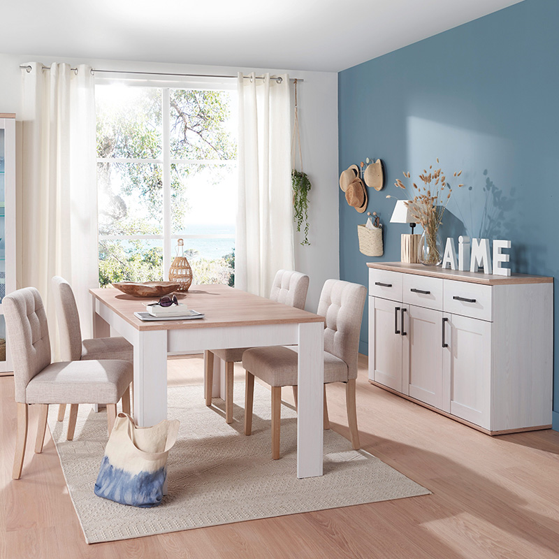 decoration campagne chic salle a manger
