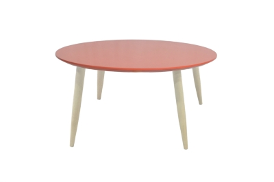 Table basse scandinave ronde MANON Corail