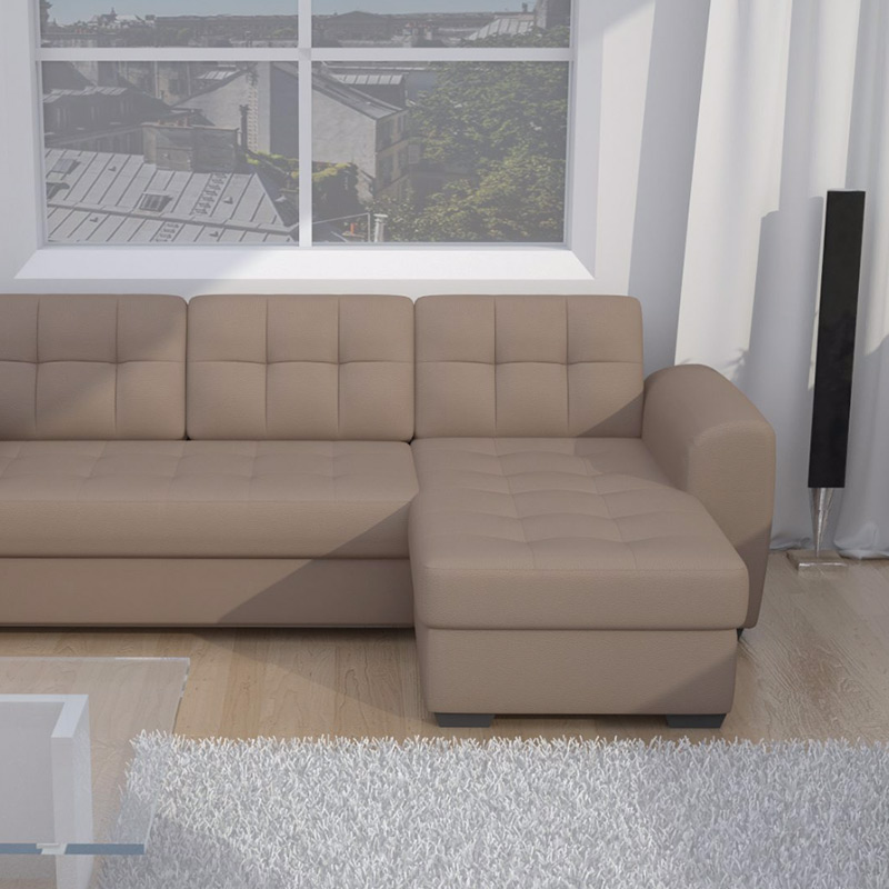 canape convertible taupe