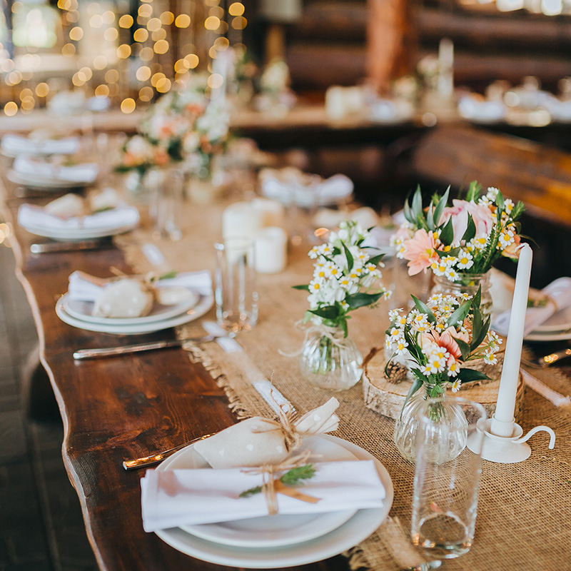 decoration table mariage champetre