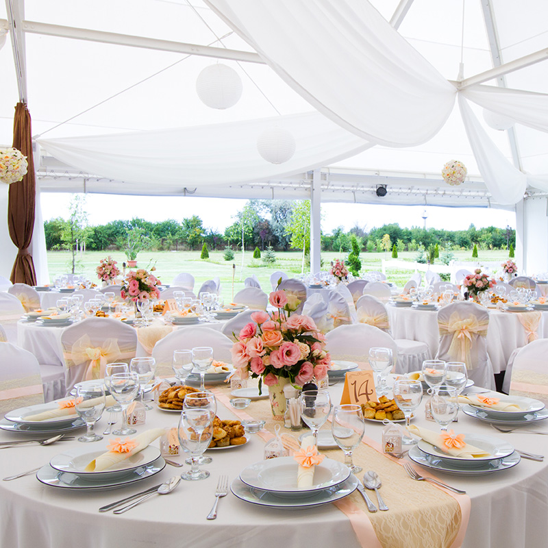 decoration table ronde mariage